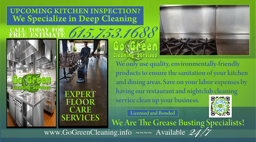 Go Green Restaurant Cleaning Office Nashville TN